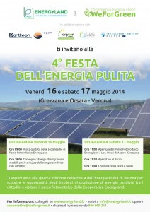 Invito 4° Festa dell'Energia Pulita