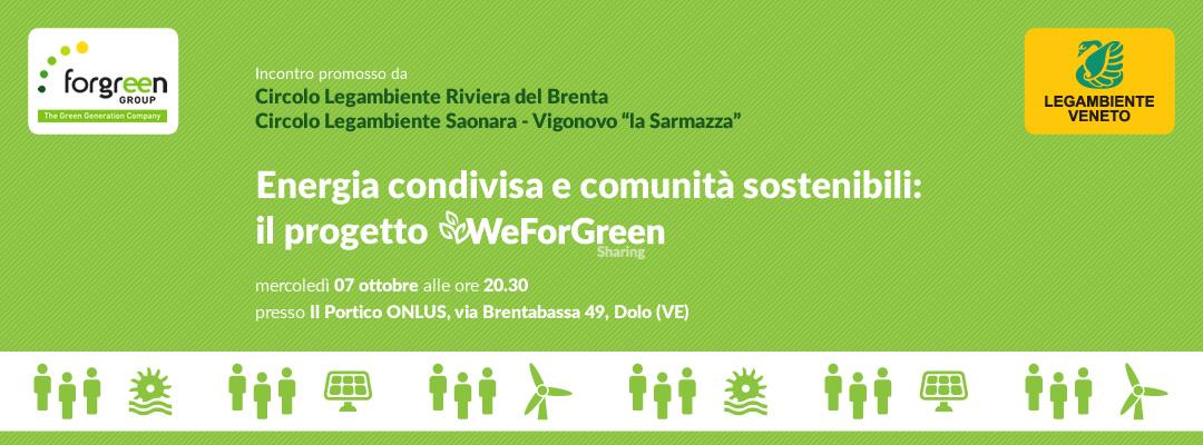 Dolo - Incontro circolo Legambiente Riviera del Brenta e Saonara Vigonovo - WeForGreen Sharing